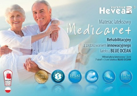 Materac lateksowy Hevea Family Medicare+ 200x180 (Aegis Natural Care)