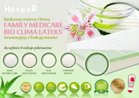 Materac lateksowy Hevea Family Medicare Bio Climalateks 200x140 (Aegis Natural Care)